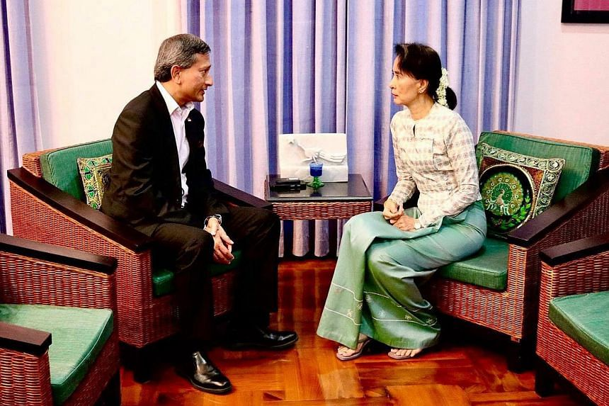 Dr Vivian Balakrishnan had discussions with Myanmar State Counsellor Aung San Suu Kyi in Naypyitaw on Friday.
