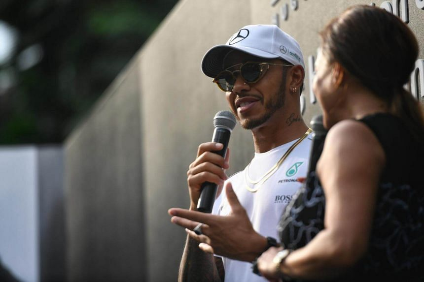 A private meet-and-greet with Mercedes driver Lewis Hamilton at The Ritz-Carlton hotel.