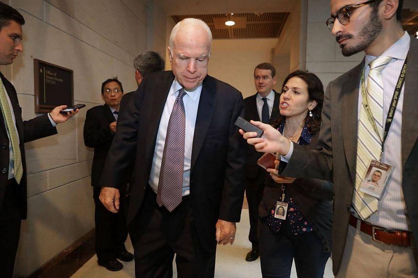 Senator John McCain  plans to take up a defence authorisation bill this week.