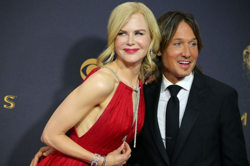 Nicole Kidman and Keith Urban arrive at the 69th Primetime Emmy Awards.