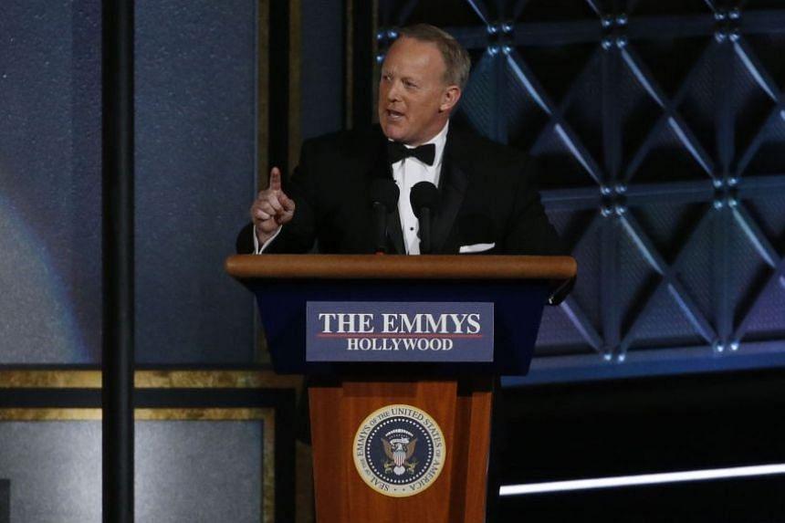Former White House press secretary Sean Spicer at the 69th Primetime Emmy Awards.