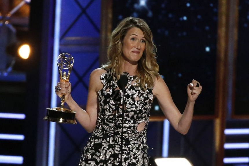 Laura Dern accepting the award for Outstanding Supporting Actress in a Limited Series or Movie for Big Little Lies.