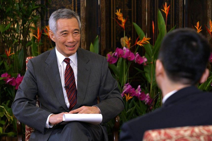 Prime Minister Lee Hsien Loong during an interview with Xinhuanet at the Istana on Sept 16, 2017.