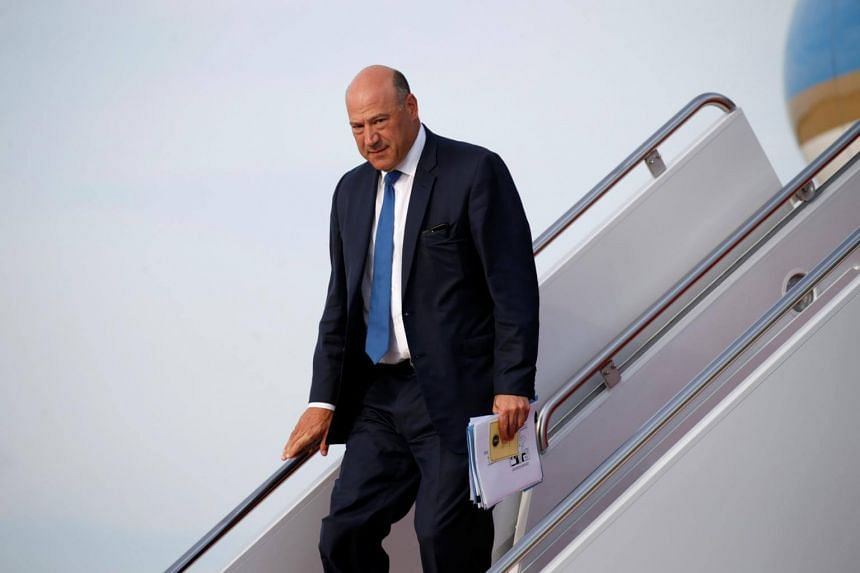 US President Donald Trump's top economic adviser, Gary Cohn, steps from Air Force One at Joint Base Andrews in Maryland, on Aug 30, 2017.