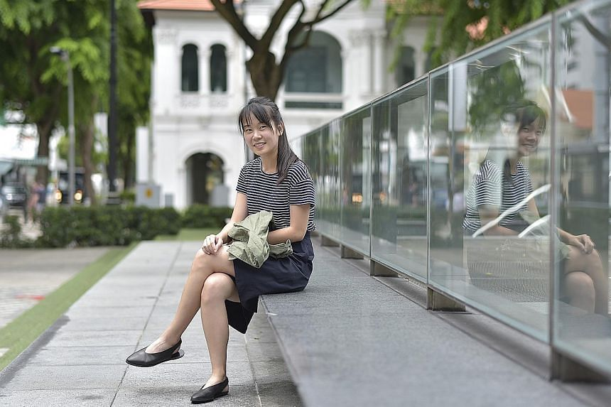 Above: Ms Jody Ang set up bakery Grin Affair and worked as a divemaster during her gap years between JC and university. She also took a leave of absence from SMU last year to set up a healthy snacks business.