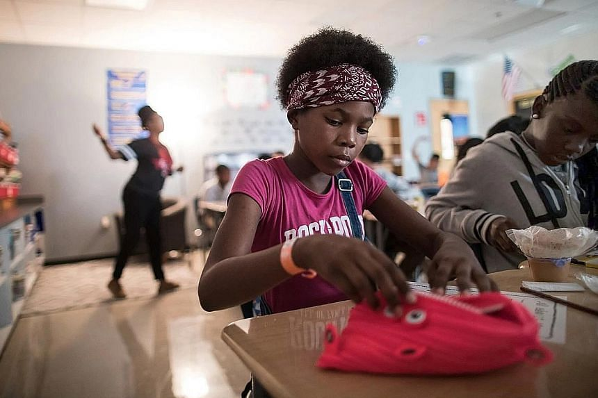 Eleven-year-old Terra Black, like tens of thousands of schoolchildren in Houston, returned to school last Monday, two weeks after Hurricane Harvey battered the city.