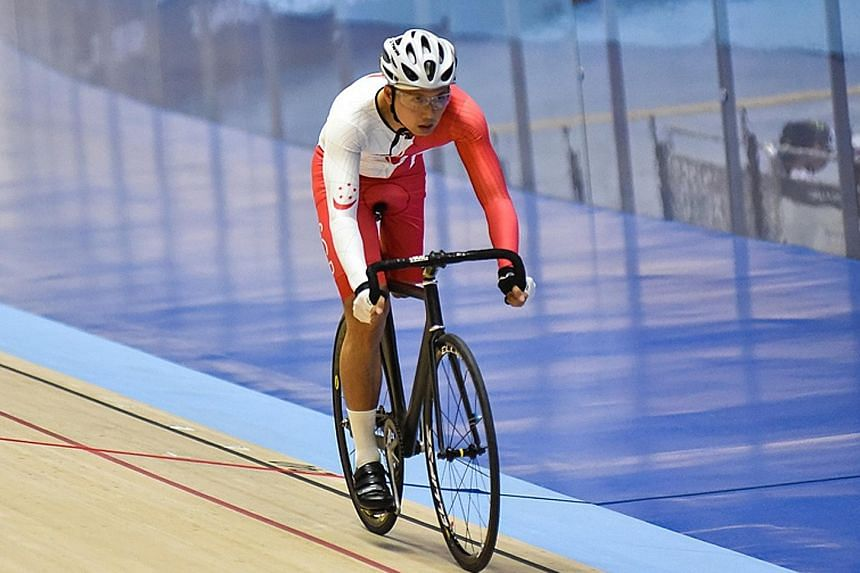 Singapore para-cyclist Tan Hun Boon competing in the men's kilometre (C1, C2, C3) final. The debutant was third in 1min 48.672sec at the Nilai Velodrome in Kuala Lumpur.