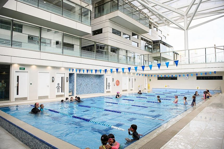 The $200 million Early Learning Village in Lorong Chuan opened its doors last month. It has a capacity of 2,100 children and is likely the largest pre-school here. It comes with outdoor play areas, a swimming pool for children and a gymnasium, and of