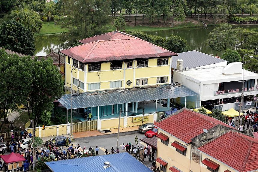 The damaged Darul Quran Ittifaqiyah religious school in Kuala Lumpur on Sept 15, 2017.