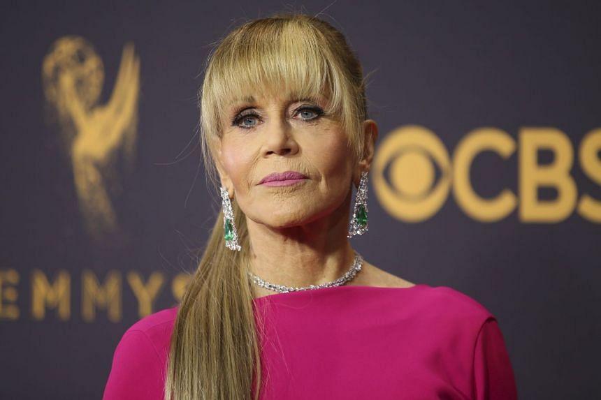 Jane Fonda arrives at the 69th Primetime Emmy Awards.