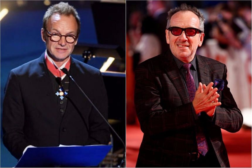 Sting and Elvis Costello will be among the performers for the tribute.