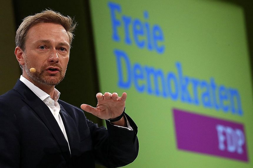 FDP leader Christian Lindner says setting the agenda for Europe is the most important issue for his party in any coalition talk with the conservatives.