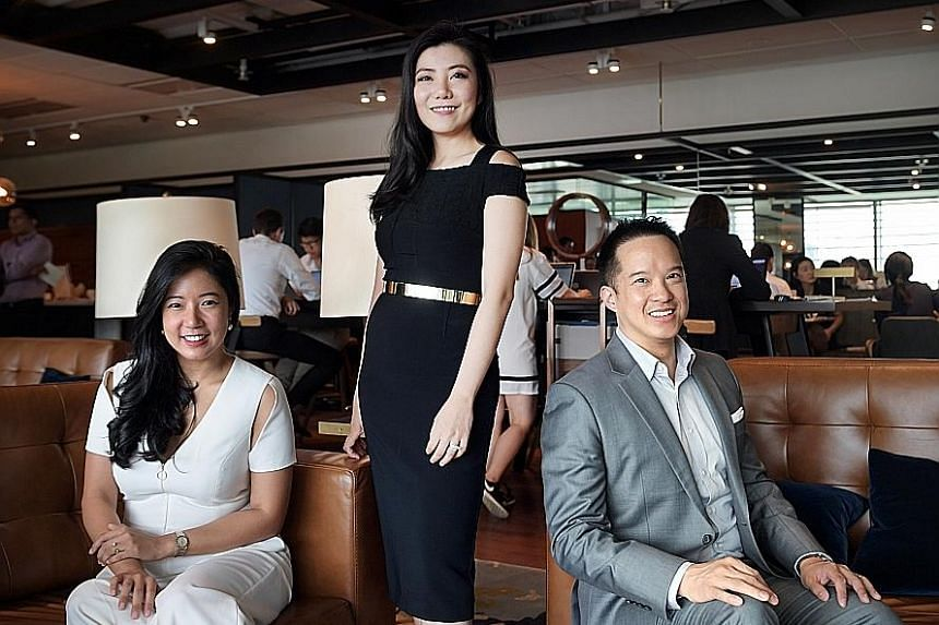 "The Great Room's founders (from left) Su Anne Mi, Jaelle Ang and Yian Huang. Ms Ang said the significance of CapitaLand's investment in the company ""is huge"" and will help ramp up overseas growth. The brand is looking at opportunities in Hong Kong, J"