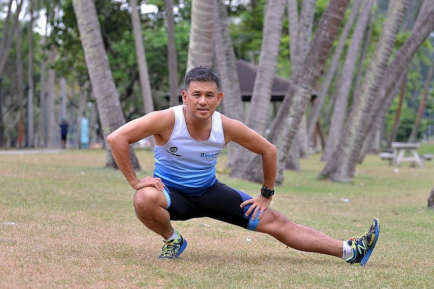 From someone who used to smoke, drink and eat a lot, Mr Steven Chan has turned into a fitness enthusiast who loves training for triathlons.