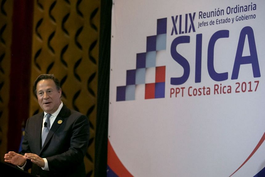 Panamanian President Juan Carlos Varela at a meeting of the Central American Integration System in San Jose, Costa Rica on June 29, 2017.
