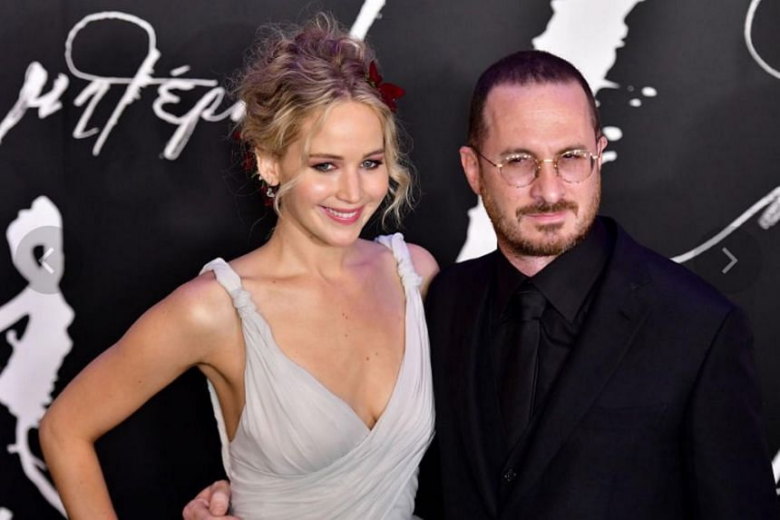 Jennifer Lawrence and Darren Aronofsky attend the New York premiere of Mother! at Radio City Music Hall on Sept 13, 2017 in New York City.