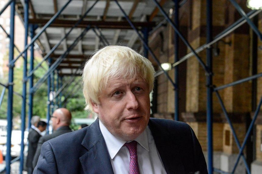 British Foreign Secretary Boris Johnson arrives at a meeting to discuss the Rohingya situation during the United Nations General Assembly in New York City, US on Sept 18, 2017.