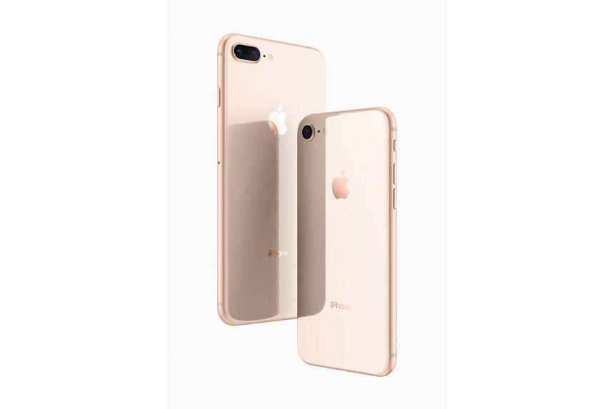 The iPhone 8 and 8 Plus both feature a glass back.