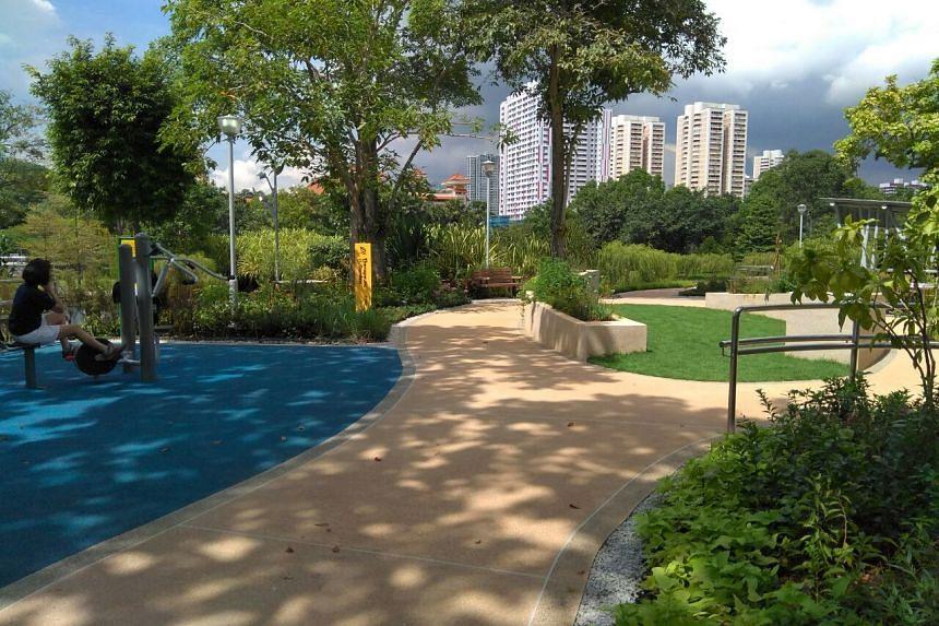 The therapeutic garden at Bishan-Ang Mo Kio Park.