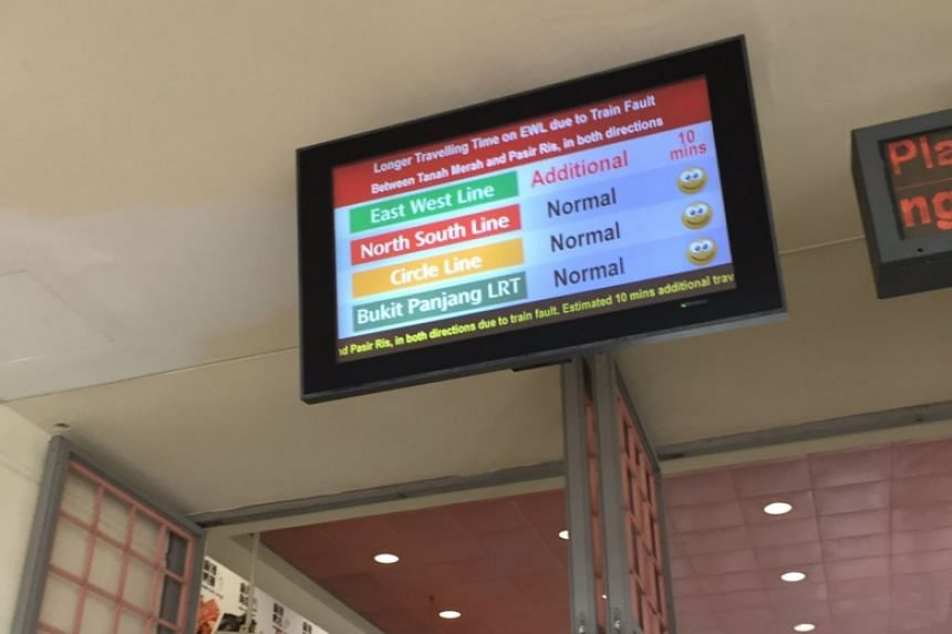 Commuters were told to expect an additional 10 minutes of travelling time on the East-West Line.
