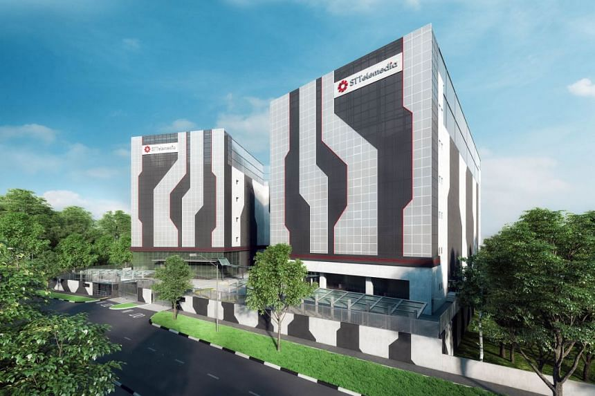 An artist impression of the ST Telemedia Global Data Centres' flagship data centre campus, with STT Defu 2 on the right.