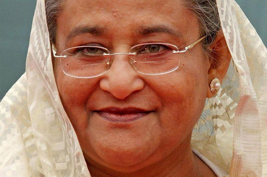 Bangladesh Prime Minister Sheikh Hasina in New Delhi, India, on Jan 11, 2010.