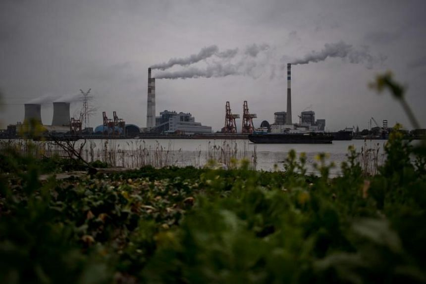 The Wujing Coal-Electricity Power Station belches smoke into the air in Shanghai are seen in a Feb 21, 2017 file photo.