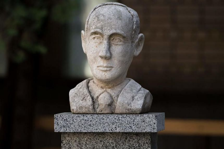 A memorial bust of  Raoul Wallenberg in Moscow shown in an Aug 15, 2017 photo.