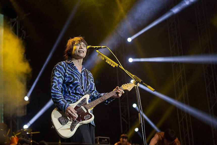 Even after 25 years in show business, music veteran Wu Bai (left) is still very much in demand and often performs with his band China Blue in concerts around the region.