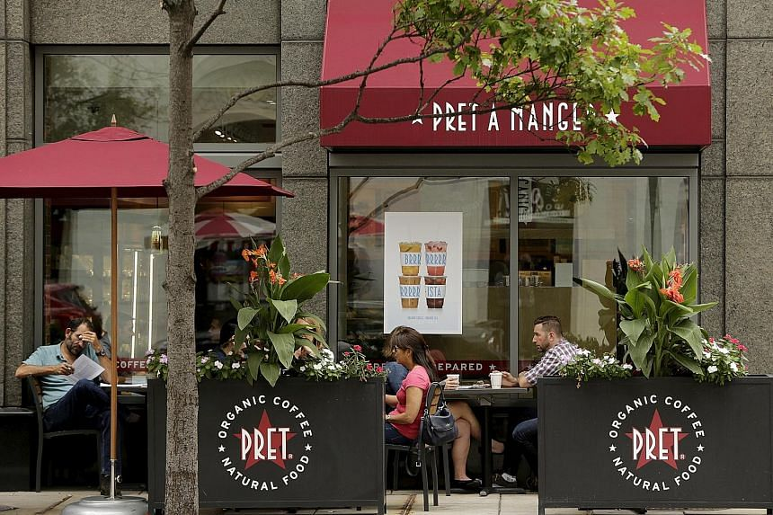 Pret A Manger has more than 400 shops worldwide, including this one in Washington. Jollibee operates 2,700 restaurant outlets, including its eponymous chain of fast-food stores with the ubiquitous smiling bee mascot.