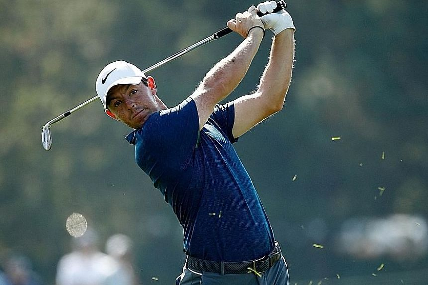 World No. 8 Rory McIlroy hitting a drive at last week's BMW Championship. The Northern Irishman has been beset by injuries in a winless season so far, but a British Masters title will put him in a better frame of mind ahead of his impending six-week