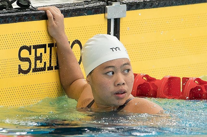Para-swimmer Danielle Moi finished first at the APG in KL yesterday.