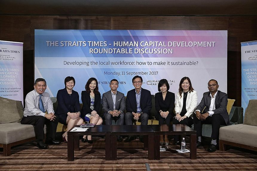 Members of the panel which discussed how companies can develop the local workforce, and ways in which employees themselves can step up to the plate.