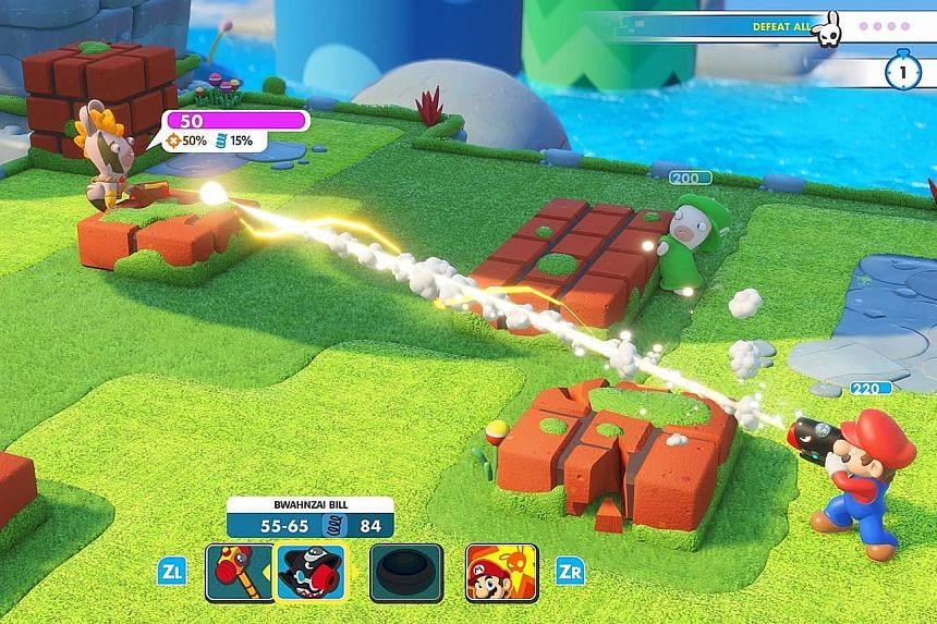 In Mario + Rabbids Kingdom Battle, the gameplay and controls might be simple, but the game actually requires careful strategic thinking.