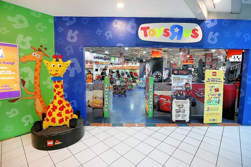 Toys 'R' Us (Asia) has 11 stores in Singapore, including at Forum The Shopping Mall (left). It runs the chain's business in Asia and said in a statement that it is a separate legal entity and financially independent of all other operating companies w