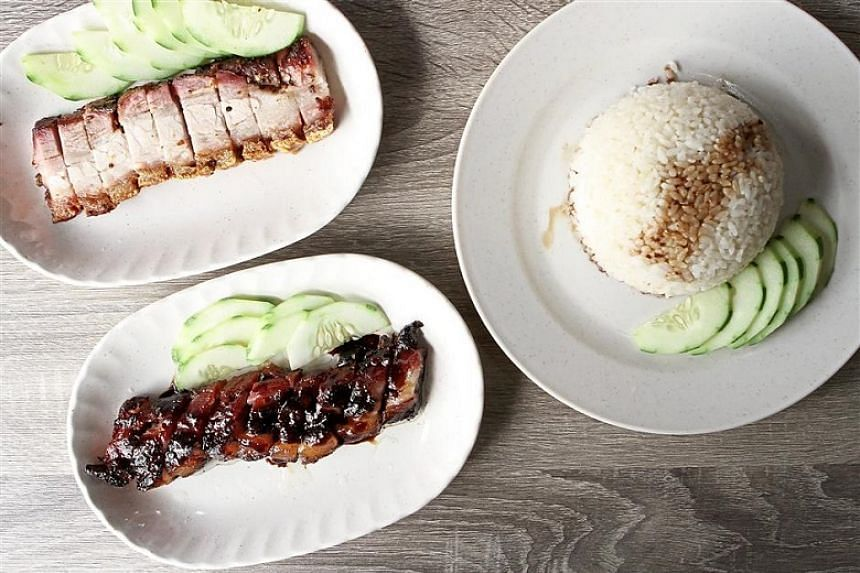 Roasts to remember at Boon Signature Roast Pork: siew yoke (top left) and char siew (above) with Japanese pearl rice.