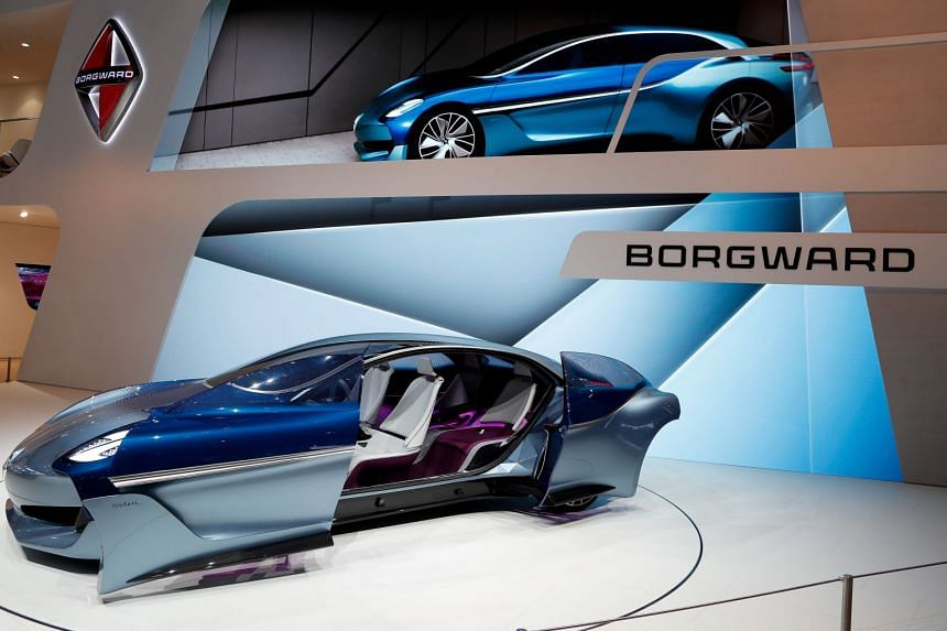 Borgward presents the new Isabella Concept at the IAA Car Show in Frankfurt Main, Germany, on Sept 13, 2017.
