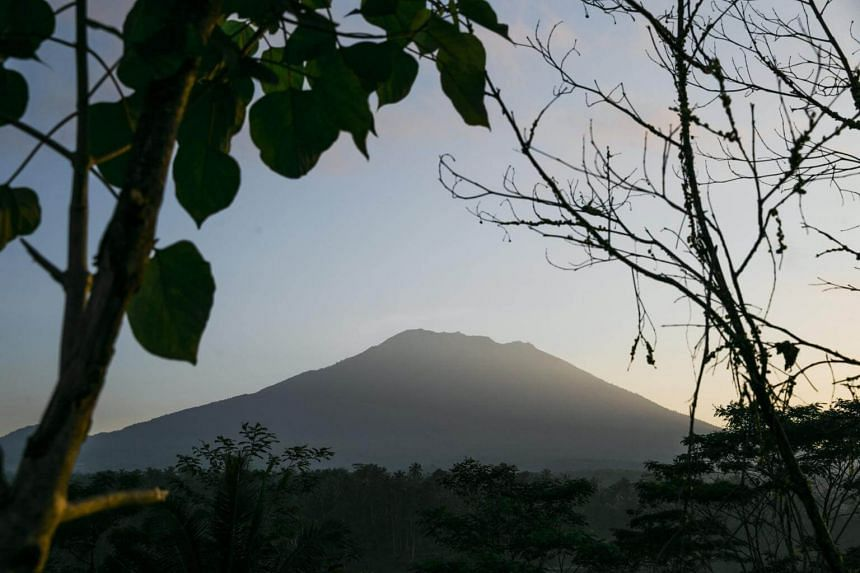 Mount Agung, about 75 kilometres from the tourist hub of Kuta, has been rumbling since August and officials have banned people from venturing within 7.5km of its summit.