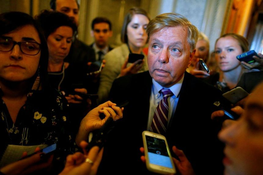 US Senator Lindsey Graham speaks to reporters about proposed legislation to repeal Obamacare, at the Capitol in Washington, on Sept 19, 2017.