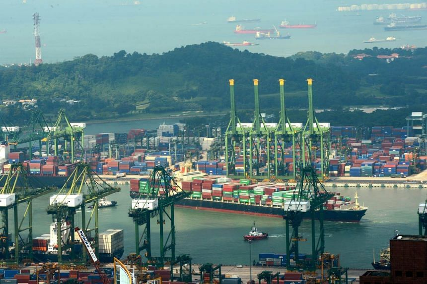According to the port operator's website, there are 37 quay cranes at the Keppel facility.
