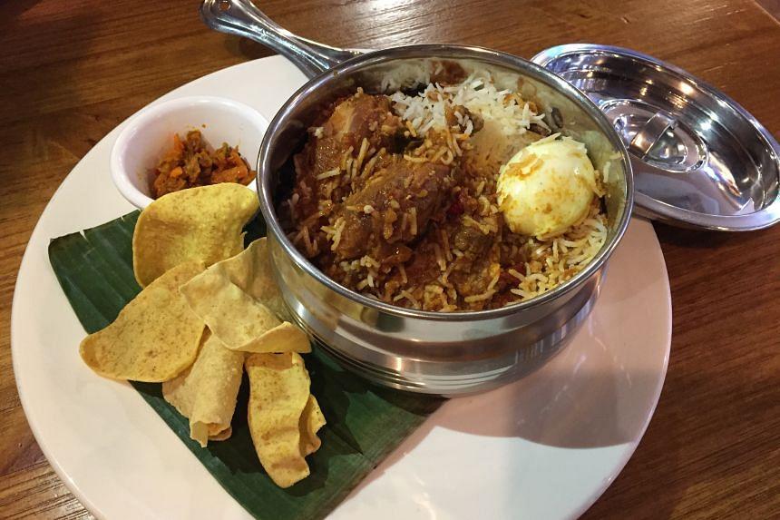 The biryani at The Ceylonese Affair is big enough to serve two people. ST PHOTO: ANJALI RAGURAMAN