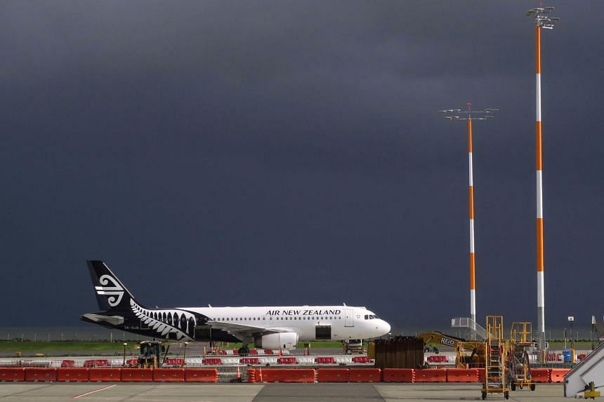 An Air New Zealand Airbus A320 plane sits on the tarmac at Auckland Airport in New Zealand, on June 25, 2017.