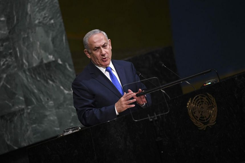 Benjamin Netanyahu, Prime Minister of the State of Israel, addresses the 72nd session of the General Assembly at the United Nations in New York.