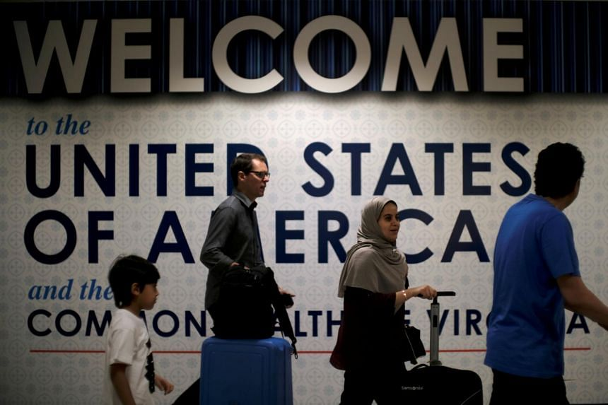 Fewer international travellers came to the United States during the first few months of this year than over the same period last year.