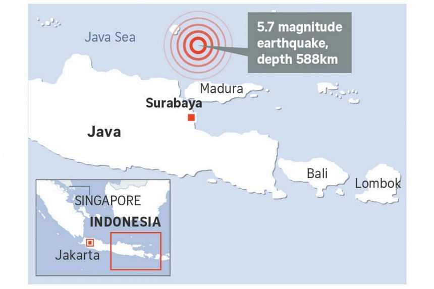An earthquake with 6.0 magnitude struck Indonesia on Thursday (Sept 21), the US Geological Survey (USGS) said.