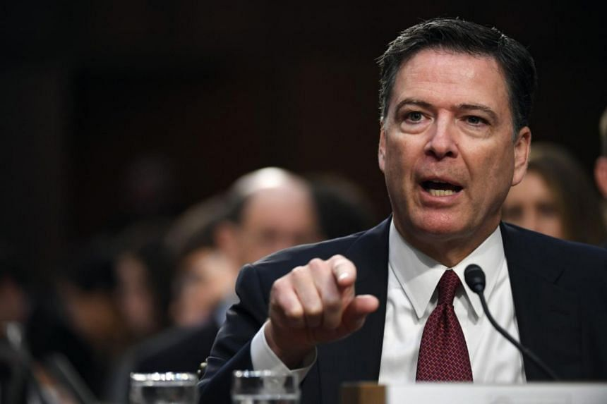 Former FBI director James B. Comey before the Senate Intelligence Committee.
