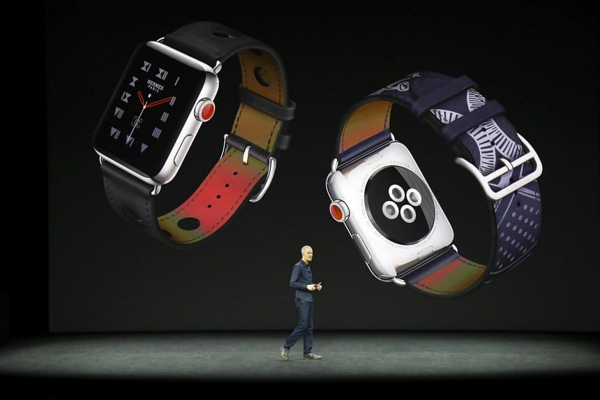 Jeff Williams, Apple's chief operating officer, introduces the Apple Watch Series 3 with cellular connectivity.