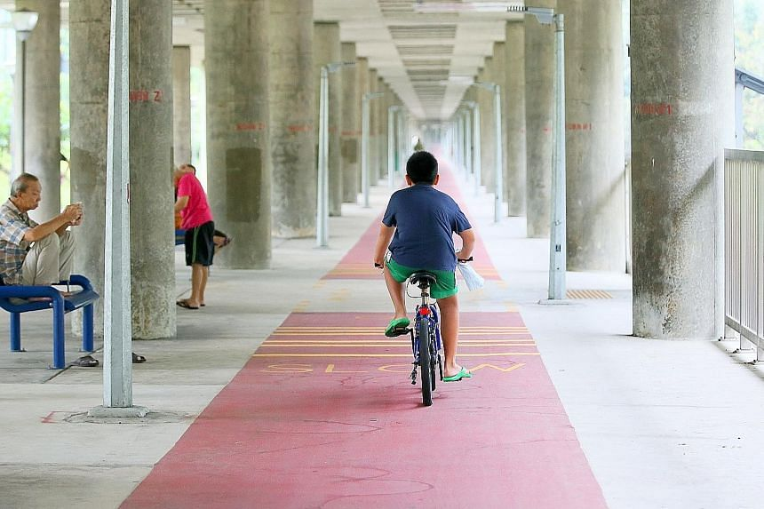 Ang Mo Kio was identified in 2014 as a test bed for new cycling infrastructure. A 4km-long red cycling path that loops around Ang Mo Kio Avenues 1, 3 and 8 was built last year.