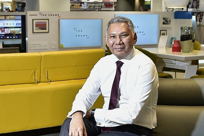 Managing director of Harvey Norman Kenneth Aruldoss is in charge of the stores' revamp.