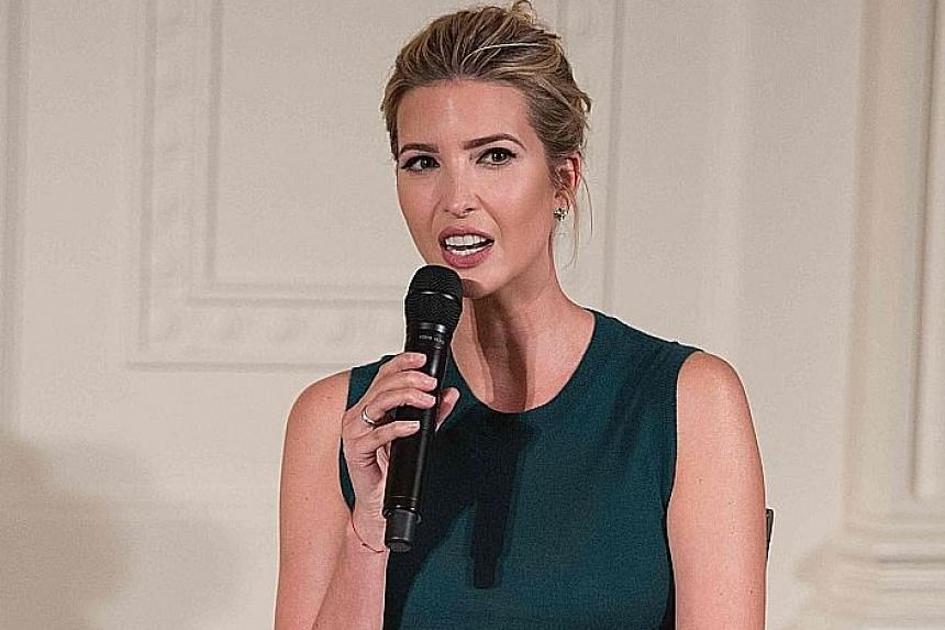 Ms Ivanka Trump (above), daughter of United States President Donald Trump.